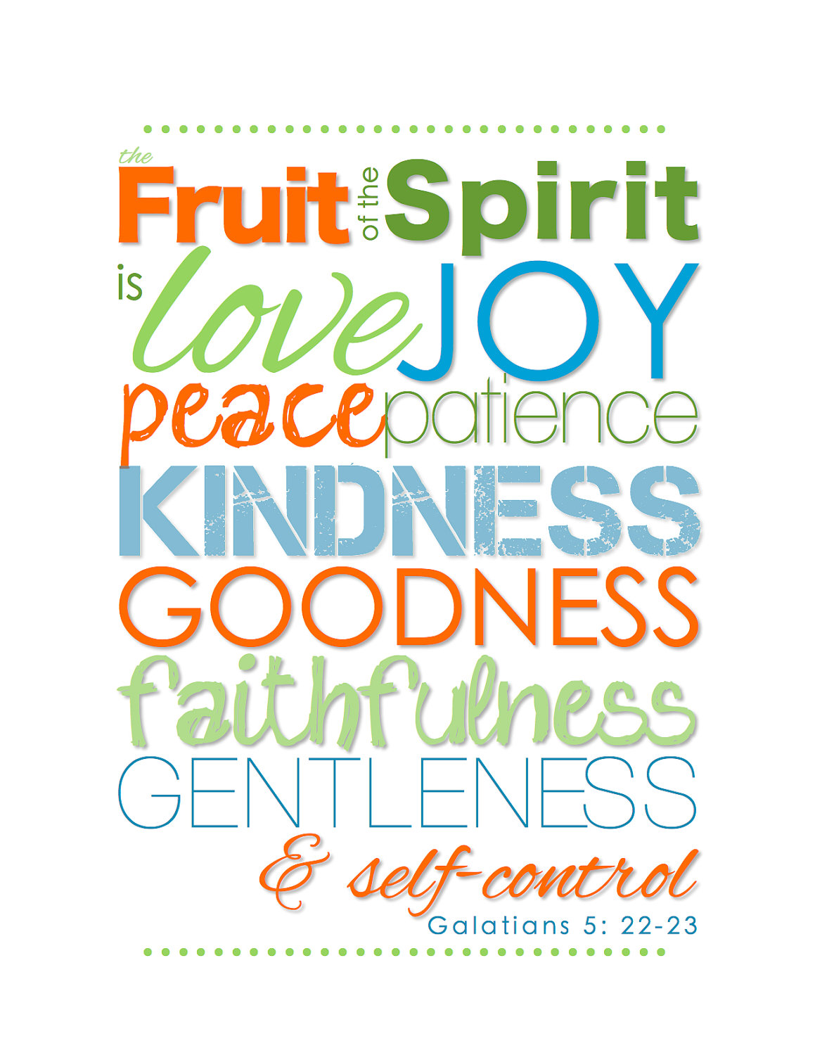 Fruit Of The Spirit Introduction And Guidelines