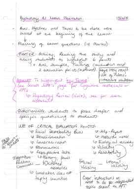 Class observation 13.10 - Psychology AS