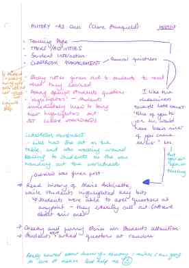 Class observation 14.09 - History A2