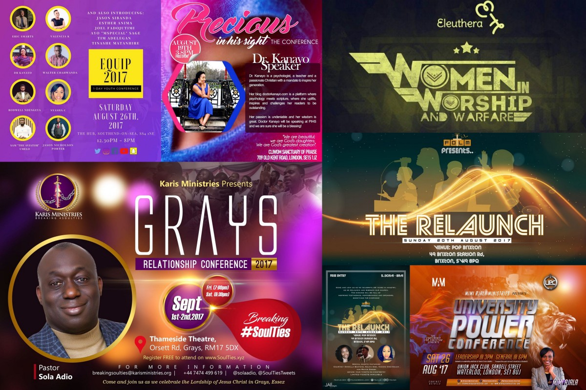 Upcoming Christian Events | August - September 2017